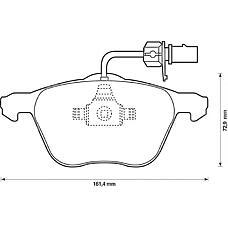 BENDIX 573047B (1205697 / 1133446 / 7M3698151A) колодки дисковые п.\ VW Sharan (Шаран) 1.8t / 2.8i / 1.9td 00> / t4 2.8i v6 / vr6 00-03
