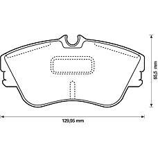 BENDIX 573050B (7D0698151B / 7D0698151G / 7D0695151B) колодки дисковые передние disk 15\ VW t4 2.5 / 2.4d &syncro 98-04