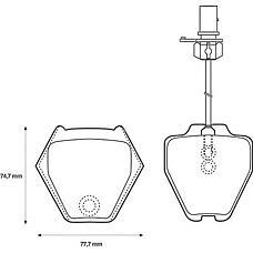 BENDIX 573064B (4B0698151D / 4B3698151 / 4B0698151L) колодки дисковые передние Audi (Ауди) allroad 2.7i / 2.5tdi 00>
