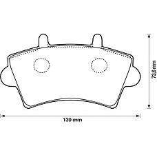 BENDIX 573107B (7701206727 / 7701207339 / 4106000QAD) колодки дисковые передние Renault (Рено) maste, Opel (Опель) movano 1.9tdi-2.8tdi 00>