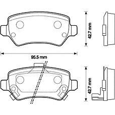 BENDIX 573122B (1605967 / 1605995 / 93179164) колодки дисковые задние\ Opel (Опель) Astra (Астра) 1.8-2.2dt / Zafira (Зафира) 2.2i / dti 01>