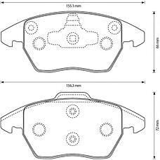 BENDIX 573134B (5C0698151 / 425344 / 425260) колодки дисковые п.\ Citroen (Ситроен) c4, Peugeot (Пежо) 307 2.0 / 2.0hdi 03>