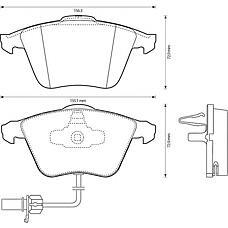 BENDIX 573145B (4B0698151AC / 4B0698151R / 4B0698151Q) колодки дисковые передние\ Audi (Ауди) a6 3.0 quattro 01-05