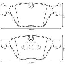 BENDIX 573151B (34116763617 / 34116763618 / 34116771868) колодки дисковые передние\ BMW (БМВ) e60 2.0i 03>