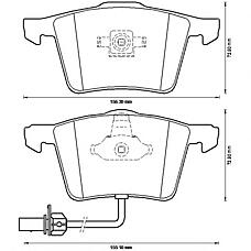 BENDIX 573196B (4F0698151A / 4F0698151D / 4E0698151F) колодки дисковые передние disk 360x34\ Audi (Ауди) a4 / a6 / a8 1.8-4.2 / 2.0tdi-3.0tdi 02>