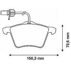 BENDIX 573206B (7M3698151B / 1151377 / 1201124) колодки дисковые передние Ford (Форд) Galaxy (Галакси) 2.0 / 2.3 / 1.9tdi, VW Sharan (Шаран) 1.8t / 2.0 / 1.9tdi 95>