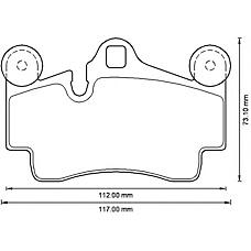 BENDIX 573227B (7L0698451B / 95535293900 / 95535293901) колодки дисковые задние disk 19\ Porsche (Порше) Cayenne (Кайен) 3.2 / 4.5 v8 02>