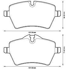 BENDIX 573234B (34116770251 / 34116778320 / 34119804735) колодки дисковые передние\ BMW (БМВ) Mini (Мини) cooper 1.6i / d 06>