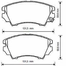 BENDIX 573269B (13237750 / 1605624 / 13237753) колодки дисковые передние\ Opel (Опель) insignia 1.6-2.0cdti 08>