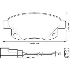 BENDIX 573277B (1433958 / 1371454 / 1554524) колодки дисковые задние\ Ford (Форд) Transit (Транзит) / tourneoconnect 2.3 16v / 2.2tdci / 2.4tdci 06>