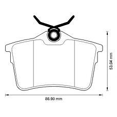 BENDIX 573289B (425414 / 425429 / 425415) колодки дисковые задние\ Citroen (Ситроен) berlingo, Peugeot (Пежо) 308 / partner 1.6-2.0hdi 08>