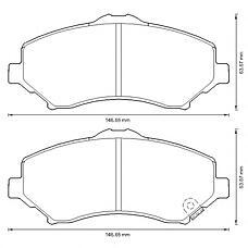 BENDIX 573298B (68029263AA / 68003701AA / 68029264AA) колодки дисковые передние chysler grand Voyager (Вояджер) 2.0crd-4.0 4wd, Jeep (Джип) Wrangler (Вранглер) 2.8 / 3.8 07>