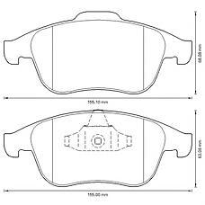 BENDIX 573316B (440608746R / 410600629R / 410605055R) колодки дисковые передние\ Renault (Рено) Scenic (Сценик) III 1.4-2.0 / 1.5-2.0dci 08>