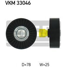 SKF VKM33046 (5751E4 / 9653342680 / VKM33046) ролик обводной ремня но\ Peugeot (Пежо) 307, Citroen (Ситроен) c4 2.0 00>