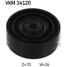 SKF VKM34120 (1456983 / 6G9Q19A216AA / LR004877) Ролик обводной