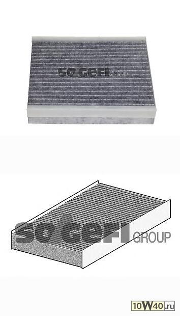 фильтр салона угольный\ mitsubishi colt, smart 0.7-1.5 / di-d / cdi 03>