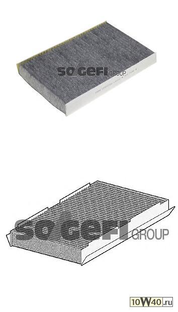 фильтр салона угольный\ citroen c2 / c3 / c4, peugeot 307 / 1007 all 00>