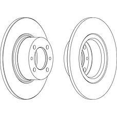 FERODO ddf035 (21013501070 / 21013103002 / 3103002) диск тормозной