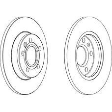 FERODO DDF1012 (701615601A / 7D0615601 / 701615601) диск тормозной задний VW transporter, lt