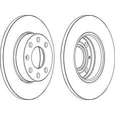 FERODO DDF1041 (569059 / 9117677 / 90497879) диск тормозной передний Opel (Опель) Astra (Астра) g 1.2-2.0 98-05 d=256mm