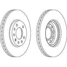 FERODO DDF1042 (569060 / 9117678 / 90539466) диск тормозной передний Opel (Опель) Astra (Астра) g / h 98-09 / Meriva (Мерива) 03- / Zafira (Зафира) 99-