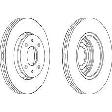 FERODO DDF1068 (M818027 / 30818027 / 308180272) диск тормозной передний (к-т 2 диска цена за 1шт.)