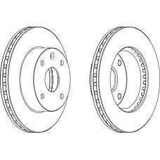 FERODO DDF1257 (96328338 / 96264591 / 96549782) диск тормозной CHEVROLET Lacetti, DAEWOO Rezzo 05-