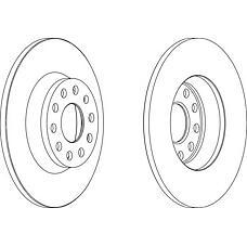 FERODO DDF1306 (1K0615601M / 1K0615601AD) диск тормозной задний (к-т 2 диска цена за 1шт.)