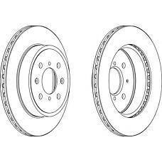 FERODO DDF1509 (5531186G02 / 4706749 / 4707288) диск тормозной передний (к-т 2 диска цена за 1шт.)