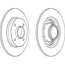 FERODO DDF1564 (424932 / 424919 / 424919424932) диск тормозной задний (к-т 2 диска цена за 1шт.)