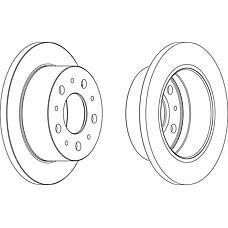 FERODO DDF1574 (51740248 / 51749275 / 424939) диск тормозной