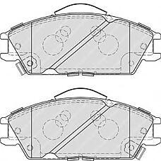 FERODO FDB4076 (5810125A10 / 581011CA10 / 581011CA00) колодки дисковые п.\ Hyundai (Хендай) Accent (Акцент) all 00>