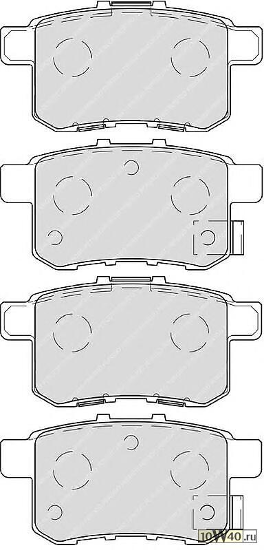 Колодки тормозные дисковые задние HONDA ACCORD 2.0-2.4 МКПП