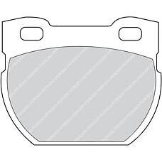 FERODO FDB872 (STC1601) колодки тормозные дисковые