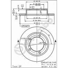 BREMBO 08.3939.10 (21213501070 / 15026 / 230206) диск тормозной Lada (Лада) 2121 / 21213 (niva) передний (цена за 1 шт., мин. кол-во 2 шт.)