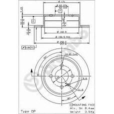 BREMBO 08.3947.24 (34211119581 / 34216755407 / 34211122282) диск тормозной