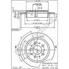 BREMBO 08.5288.10 (1359290 / 13592902 / 561506J) диск тормозной