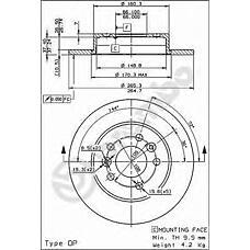 BREMBO 08.5645.50 (7700800003 / 7701205845 / 7701204296) диск тормозной задний\ Renault (Рено) Laguna (Лагуна) 1.8-3.0 92>