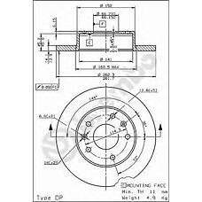 BREMBO 08.7814.10 (SDB100830 / ANR4983 / 230544) диск тормозной передний\ Land rover (Ленд ровер) Freelander (Фрилендер) 1.8 / 2.0d 98>
