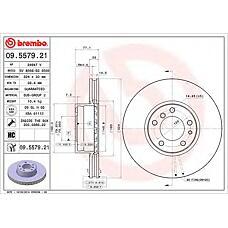 BREMBO 09.5579.21 (34111159895 / 34116757746 / 34111159916) диск тормозной передний\ BMW (БМВ) e38 / e39 / e31 4.0 / 4.4 / 5.0 / 5.6 m60 / m62 / m70 90-03