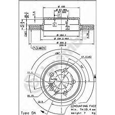 BREMBO 09.5716.10 (1404230412 / 561574) диск тормозной