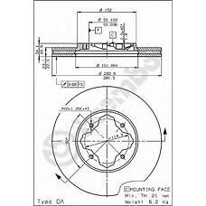 BREMBO 09.5804.10 (45251SM4G02 / 45251SN7E50 / GBD90837) диск тормозной передний\ Honda (Хонда) accord, rover 600 1.8-2.2 90>