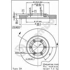 BREMBO 09.6866.10 (569051 / 97034035 / 8943755333) диск тормозной передний\ Opel (Опель) Frontera (Фронтера) 2.2-3.1d 91>