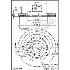 BREMBO 09.6997.10 (569056 / 90512029 / 4839320) диск тормозной передний\Opel (Опель) vectra,Saab (Сааб) 900 1.6-2.5 / 2.0 / 2.2tdi 99>