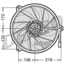 DENSO DER21009 (1253C9 / 1253C7 / 125480) вентилятор охлаждения двигателя