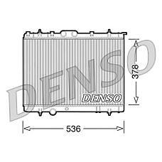 DENSO DRM21030 (1330F6 / 133086 / 1330Q1) радиатор двигателя Citroen (Ситроен) Berlingo (Берлинго) / c4 / xsara, Peugeot (Пежо) 206 / 206+ / 307 / partner 96>