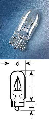 комплект ламп w5w 24v w2,1x9,5d (блистер 2шт) 5w24VW2,1x9,5d standard