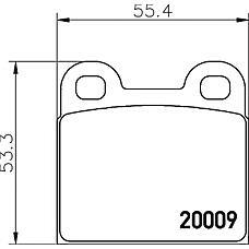 MINTEX MDB1012 (424891 / 8961856 / 311698151D) колодки тормозные дисковые, комплект