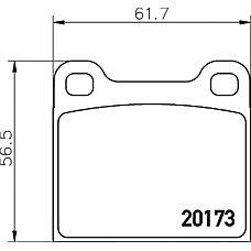 MINTEX MDB1068 (0014200620 / 0014209320 / 0004205820) колодки торм.зад. mb w123, 126, Opel (Опель) kadett