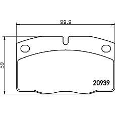 MINTEX mdb1141 (1605870 / 1605787 / 1605783) колодки торм.диск.op as / Ka (Ка) / ve / om